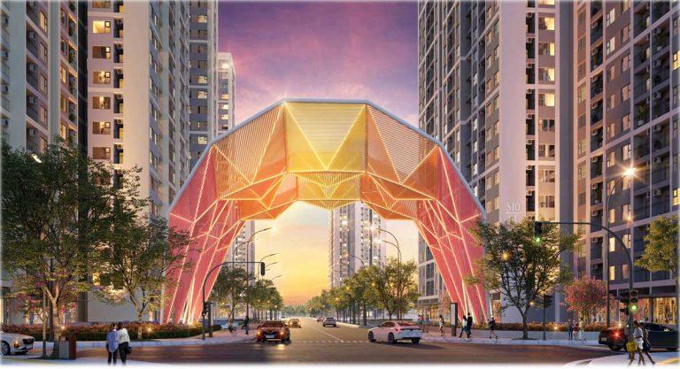 Cổng chào phân khu Origami Vinhomes Grand Park